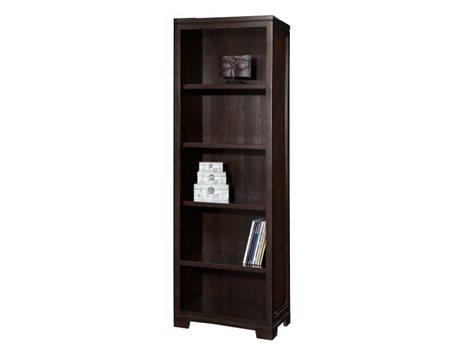 Hekman Home Office Pier Left or Right Mocha Five-Shelf Bookcase HK79185
