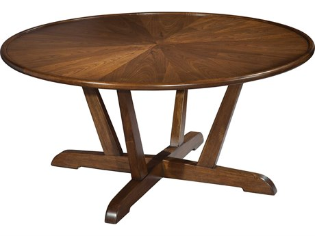 Hekman Mid Century Modern Walnut Round Coffee Table