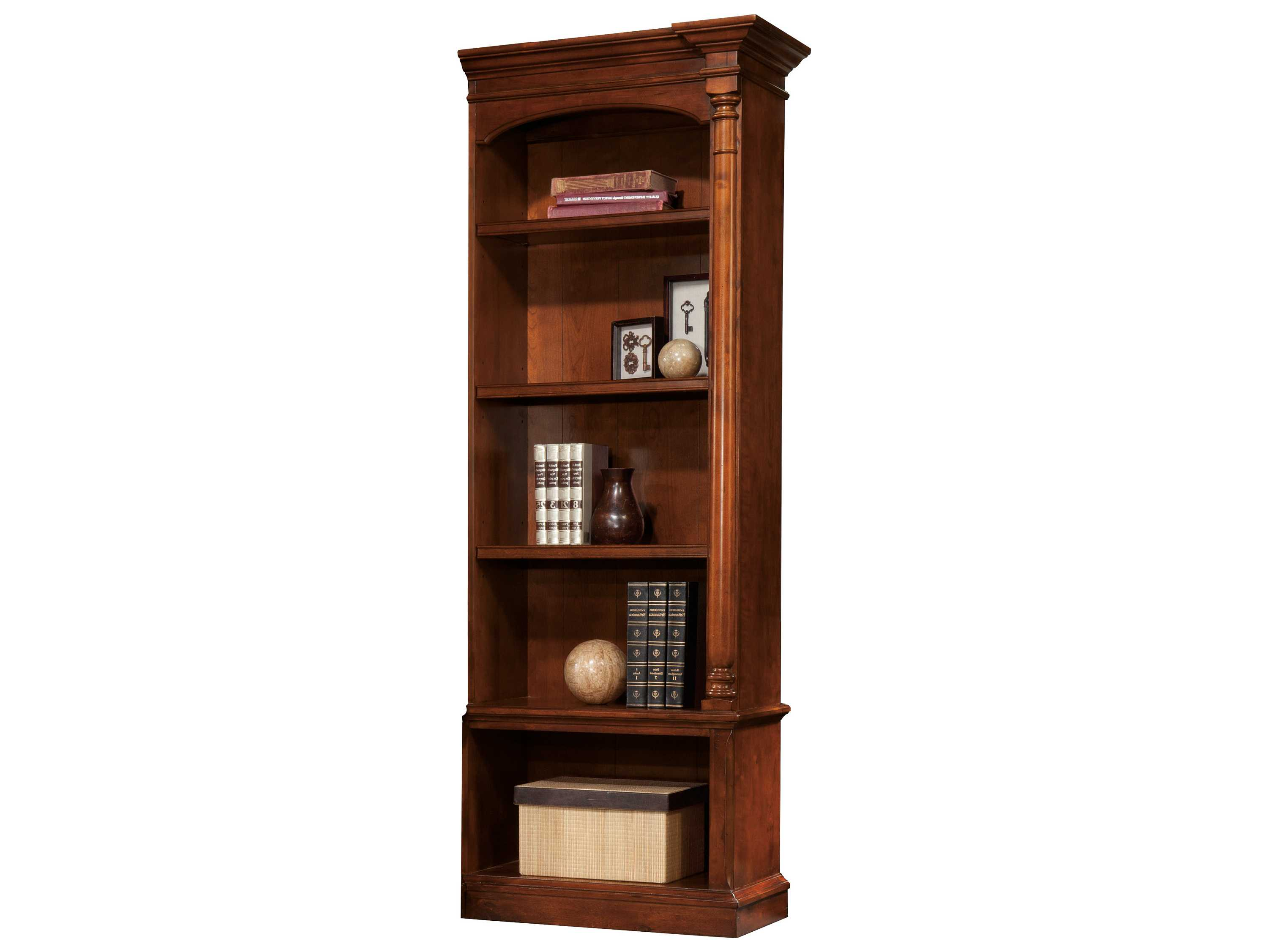 Timber Bookcase: Hekman New Office Executive Right Pier Bookcase