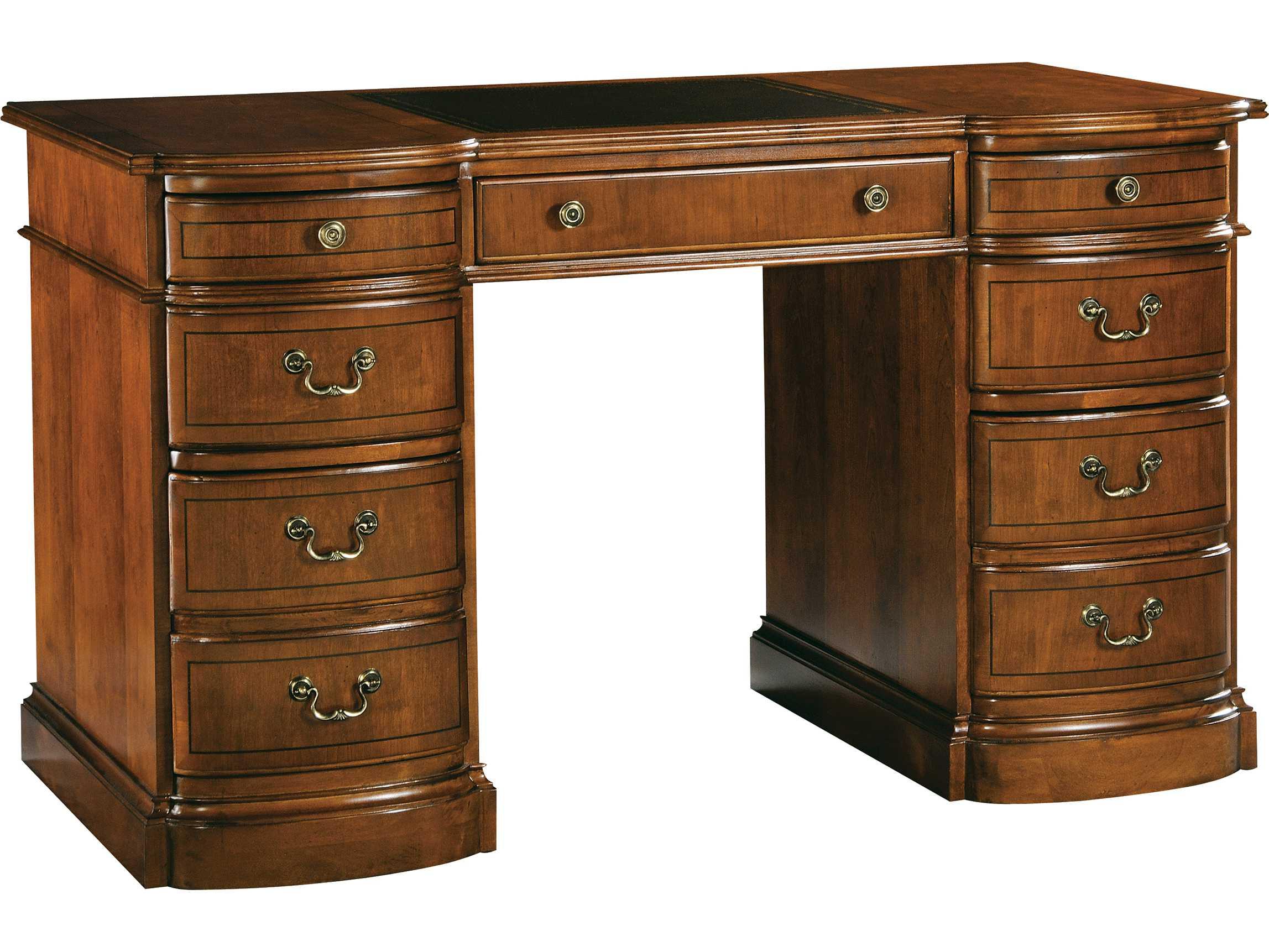 Hekman Office 52 X 26 Round Front Pedestal Desk