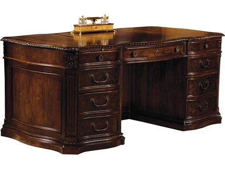 Hekman Office 72 x 36 Executive Desk in Old World Walnut Burl HK79160