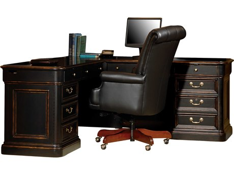 Hekman Office 72 L Shaped Desk in Louis Phillipe HK79147