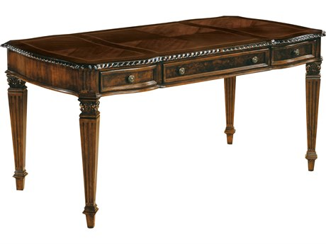 Hekman Office 61 x 32 Table Desk in Old World Walnut Burl HK79168