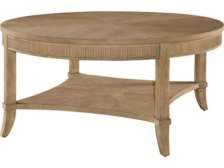 Hekman Urban Retreat Khaki Round Coffee Table with Reeded Apron