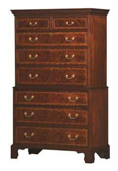 Henkel Harris Nancy Saunders 44 x 22 Rectangular Whitt Chest of Drawers