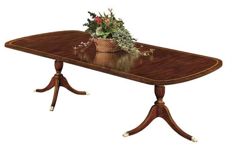 Henkel Harris 72 x 46 Rectangular Double Pedestal Dining Table