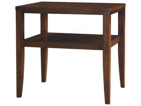 Henkel Harris 26 x 21 Rectangular Glass Top End Table