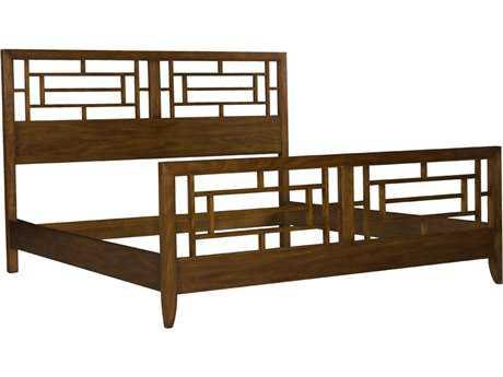 Henkel Harris King Pierced Panel Bed