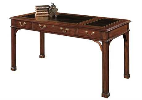 Henkel Harris 60 x 30 Rectangular Secretary Desk with Leather Top HHHHTD60L