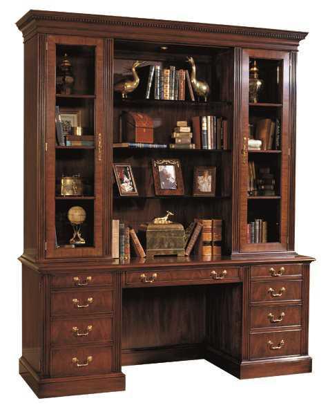 Henkel Harris 72 X 18 Wood Bookcase Hutch Hhhhbc72