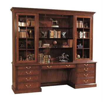 Henkel Harris 96 x 18 Wood Bookcase Hutch