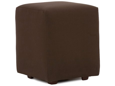 Howard Elliot Outdoor Patio Seascape Chocolate Resin Cushion Ottoman HEOQ128462