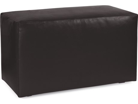 Howard Elliot Outdoor Patio Atlantis Black Resin Cushion Bench HEOQ130064