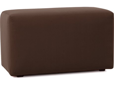 Howard Elliot Outdoor Patio Seascape Chocolate Resin Cushion Bench HEOQ130462