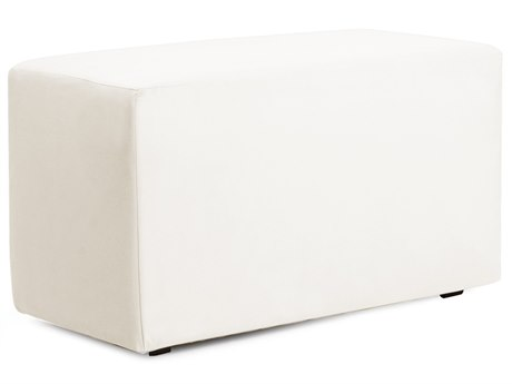 Howard Elliot Outdoor Patio Atlantis White Resin Cushion Bench HEOQ130944