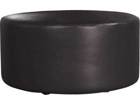 Howard Elliot Outdoor Patio Atlantis Black Resin Cushion Ottoman HEOQ132064