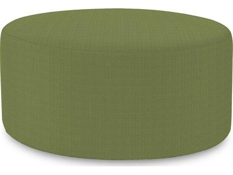 Howard Elliot Outdoor Patio Seascape Moss Resin Cushion Ottoman