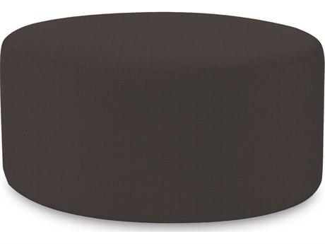 Howard Elliot Outdoor Patio Seascape Charcoal Resin Cushion Ottoman