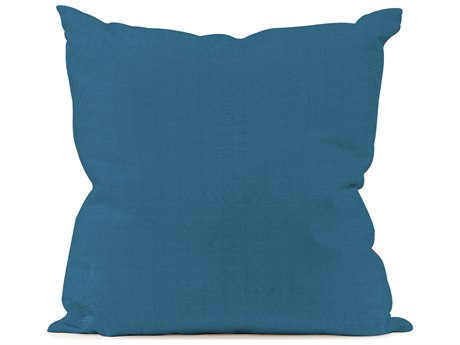 Patio Seascape Turquoise Pillow