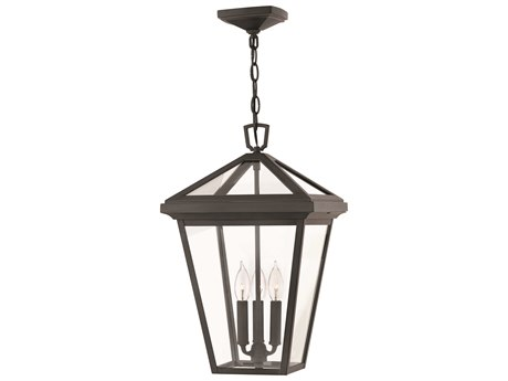 Hinkley Lighting Alford Place Museum Black Three-Light 12'' Wide Outdoor Hanging Lighting HY2562MB