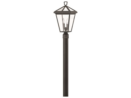 Hinkley Lighting Alford Place Museum Black Two-Light 10'' Wide Outdoor Post Light HY2561MB