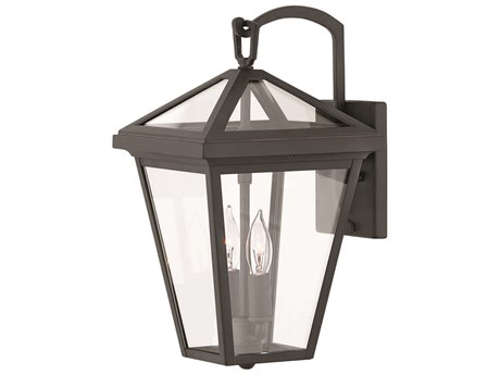 Hinkley Lighting Alford Place Museum Black Two-Light 8'' Wide Outdoor Wall Light HY2560MB
