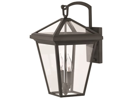 Hinkley Lighting Alford Place Museum Black Two-Light 10'' Wide Outdoor Wall Light HY2564MB