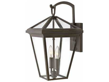 Hinkley Lighting Alford Place Oil Rubbed Bronze with Clear Glass Two-light Outdoor Wall Light HY2564OZ
