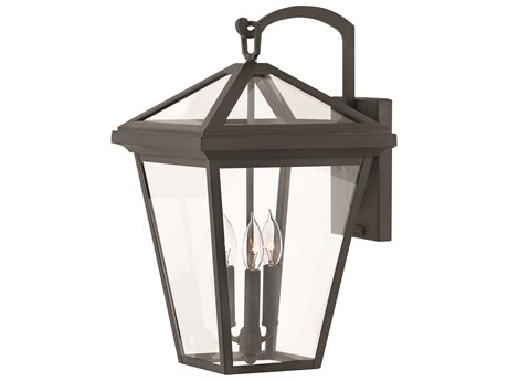 Hinkley Lighting Alford Place Museum Black Three-Light 12'' Wide Outdoor Wall Light HY2565MB