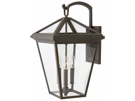 Hinkley Lighting Alford Place Oil Rubbed Bronze with Clear Glass Three-Light Outdoor Wall Light
