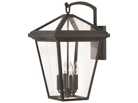 Hinkley Lighting Alford Place Museum Black Four-Light 14'' Wide Outdoor Wall Light HY2568MB