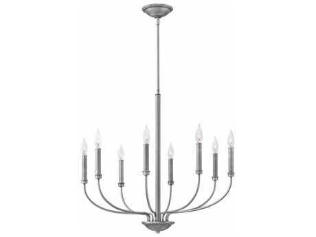 Hinkley Lighting Alister Antique Nickel Eight-Light 28'' Wide Chandelier