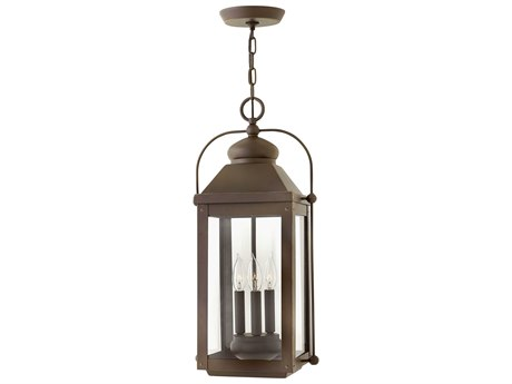 Hinkley Lighting Anchorage Light Oiled Bronze Three-Light 11'' Wide LED Outdoor Hanging Lighting HY1852LZLL