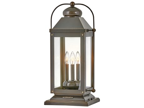 Hinkley Lighting Anchorage Light Oiled Bronze Glass Outdoor Lamp