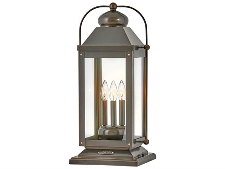 Hinkley Lighting Anchorage Light Oiled Bronze Glass LED Outdoor Lamp