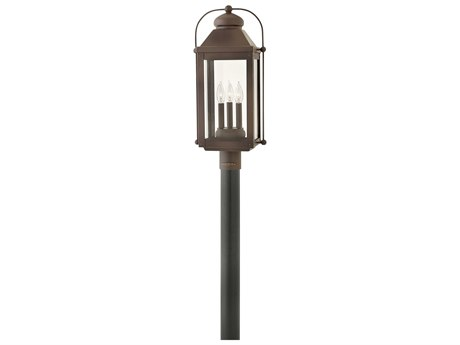 Hinkley Lighting Anchorage Light Oiled Bronze Three-Light 11'' Wide LED Outdoor Post Light HY1851LZLL