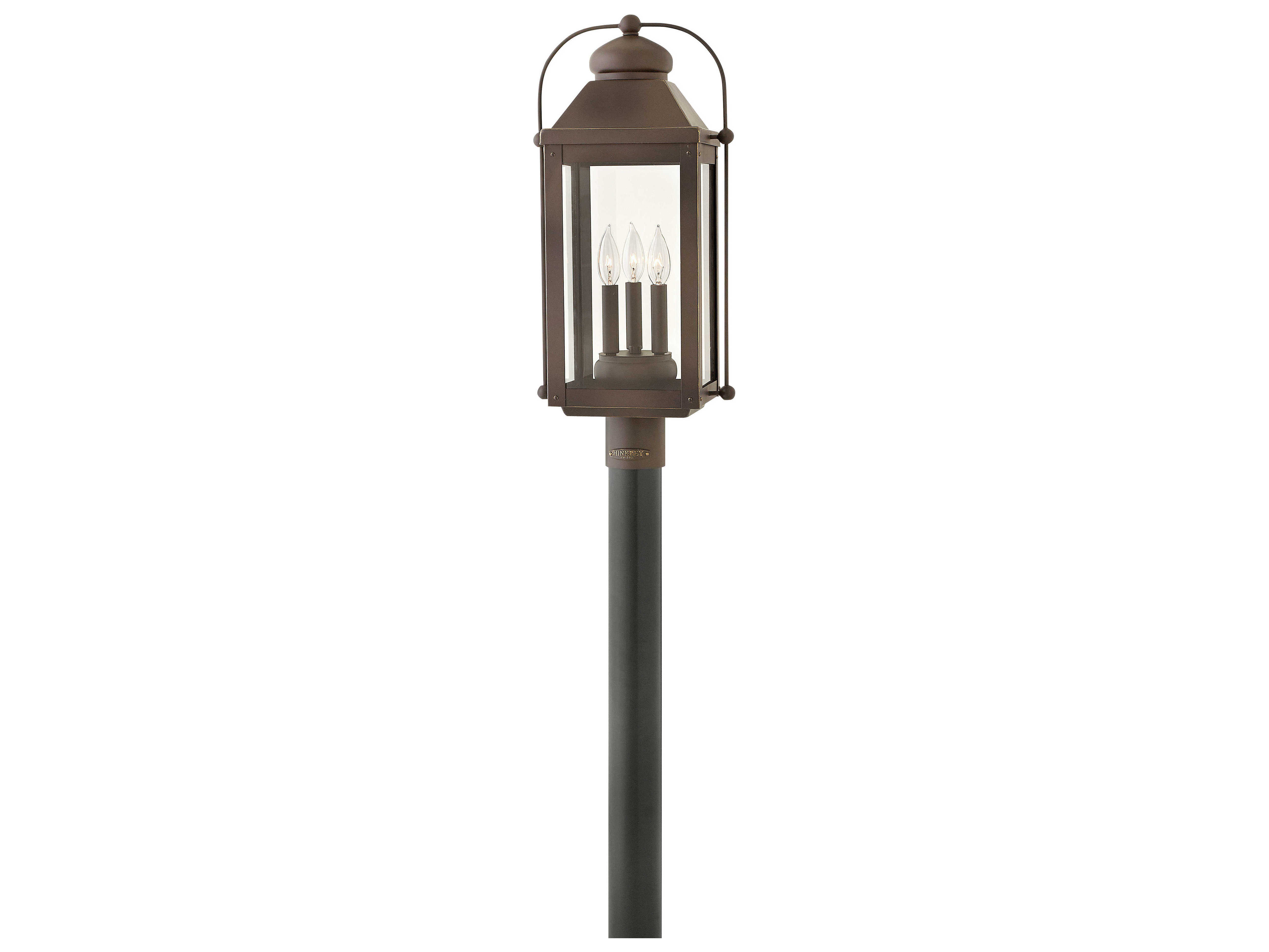 Hinkley Lighting Anchorage Light Oiled Bronze Three 11 Wide Led Outdoor Post