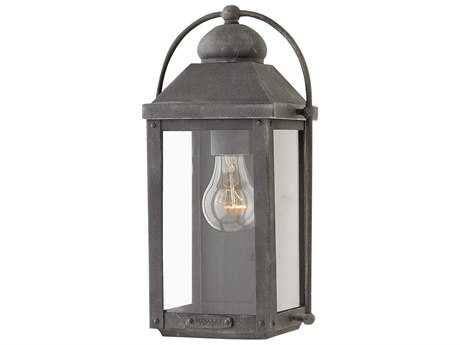 Hinkley Lighting Anchorage Aged Zinc Outdoor Wall Light HY1850DZ