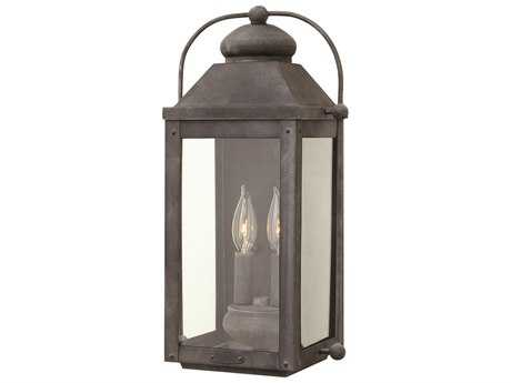 Hinkley Lighting Anchorage Aged Zinc Two-Light Outdoor Wall Light HY1854DZ