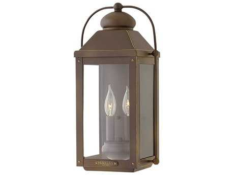 Hinkley Lighting Anchorage Light Oiled Bronze Two-Light Outdoor Wall Light