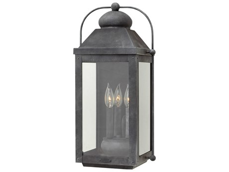 Hinkley Lighting Anchorage Aged Zinc Three-Light 11'' Wide LED Outdoor Wall Light HY1855DZLL