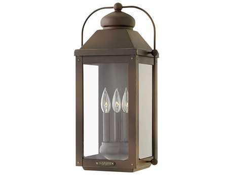 Hinkley Lighting Anchorage Light Oiled Bronze Three-Light Outdoor Wall Light HY1855LZ
