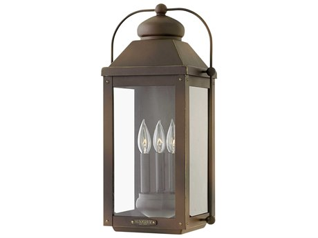Hinkley Lighting Anchorage Light Oiled Bronze Three-Light 11'' Wide LED Outdoor Wall Light HY1855LZLL