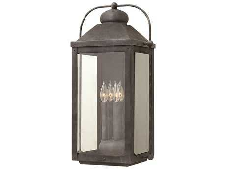 Hinkley Lighting Anchorage Aged Zinc Four-Light Outdoor Wall Light HY1858DZ