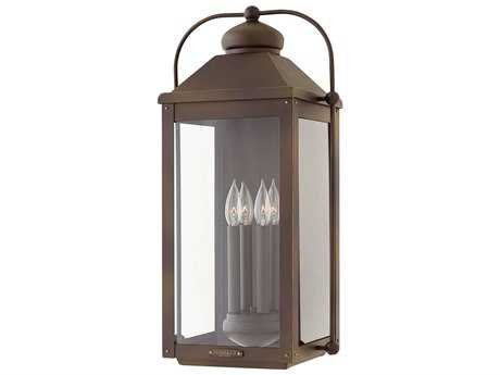 Hinkley Lighting Anchorage Light Oiled Bronze Four-Light Outdoor Wall Light HY1858LZ