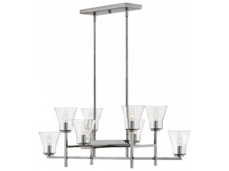 Hinkley Lighting Arden Polished Antique Nickel Eight-Light 40'' Wide Island Light HY3458PL