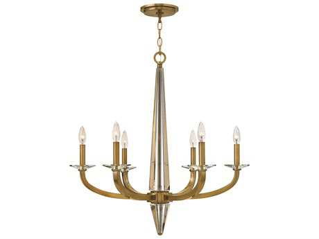 Hinkley Lighting Ascher Brushed Caramel Six-Light 28 Wide Chandelier HY4756BC