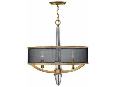 Hinkley Lighting Ascher Brushed Caramel Three-Light 21.25'' Wide Incandescent Pendant Ceiling Light HY4753BC