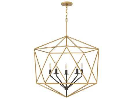 Hinkley Lighting Astrid Deluxe Gold Six-Light 28'' Wide Chandelier HY3025DG