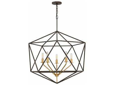 Hinkley Lighting Astrid Metallic Matte Bronze Six-Light 28'' Wide Chandelier HY3025MM